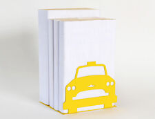 Yellow Taxi Cab New York City Bookend by Susan Bradley