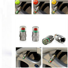 4Pc Coche Neumático Presión Monitor Casquillos de válvula -Sensor-Mostrar Alarma