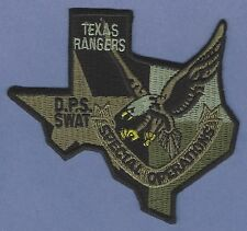TEXAS RANGERS PUBLIC SAFETY SPECIAL OPERATIONS SWAT TEAM POLICE PATCH GREEN