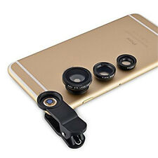 Phone Accessory 3in1 Fish Eye+Wide Angle Micro Lens Camera Set for iPhone 5s 4S