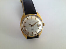 Vintage Henri SANDOZ & Fils 25J Cal.905 Automatic Gold Plated Swiss Watch
