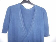 new look long length blue cotton cardigan  size 18