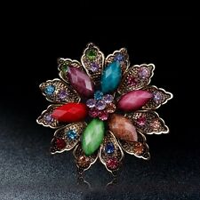 SPILLA FIORE 6,0CM - COLOURED FLOWER BOUQUET BROOCH WEDDING PARTY PIN BROACH