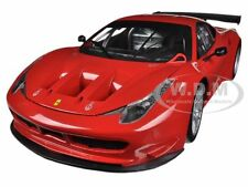 FERRARI 458 ITALIA GT2 ROSSO CORSA RED 1/18 DIECAST MODEL CAR BY HOTWHEELS BCJ77