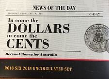 2016  Mint Set Australian Anniversary of Decimal Currency UNC conversion set