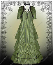 Steampunk Clothing Gothic Jacket Shirt and Skirt L Victorian Civil War Green
