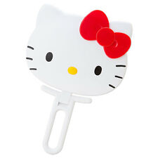 Hello Kitty Face shaped hand Mirror folding white ❤ Sanrio Japan