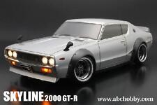 ABC 1/10 Nissan Skyline 2000 GTR KPGC110 Fender 200mm On Road Clear Body #66133
