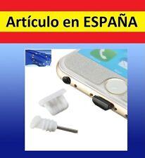 2x Tapones MICRO USB + JACK anti polvo palo proteccion BLANCO tapa auriculares