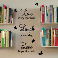 Live Laugh Love Wall Quote Stickers Wall Decals Wall Art decorations Letter 40-3
