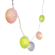 8ft  Easter Egg Light String Pastel Colored Lights Egg Hunt Festive Decor