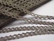 "10y Vintage Lace 3/8"" Trim Bridal Wedding Sewing Craft Cotton Crochet-Silver"
