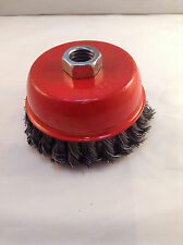 "Heavy Duty 4"" Knotted/Twisted Wire Cup Brush"