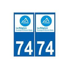 74 Haute Savoie Rhône Alpes nouveau logo 3 sticker autocollant plaque droits