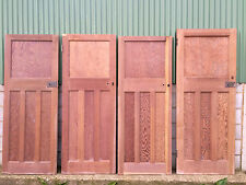 Reclaimed solid wood 1930s one over three panel doors listing 2