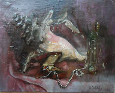 ROWLAND SUDDABY 1912-1973 ORIGINAL SIGNED OIL PAINTING 'STILL LIFE' DATED 1956