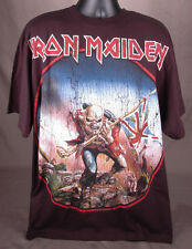 IRON MAIDEN T Shirt-Black-XL-Heavy Metal-Death Rock-Skeleton w Union Jack-2008..