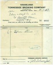 1947 Tennessee Brewing Co. Purchase Order - Memphis, TN