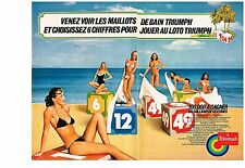 Publicité Advertising 1979 (2 pages) Les maillots de bain Triumph