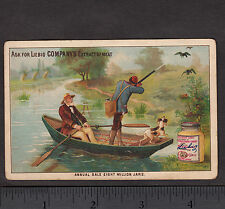 Duck Hunting Dog c 1884 Liebig S112 English Language Sportsman Hunter Trade Card