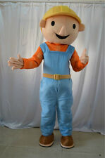 Free Shipping New Bob The Builder Mascot Costume Cartoon Outfit Cosplay Dress