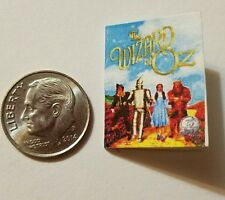 Miniature Dollhouse book 1/12 Wizard of Oz Toto movie Barbie accessory  B