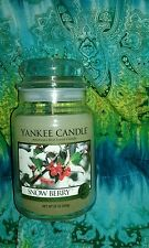 VHTF Yankee Candle Snow Berry 22 oz. Glass Jar UNUSED Winter Holiday Christmas