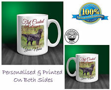 Flat Coated Retriever Personalised Ceramic Mug: Perfect Gift. (D102)