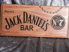 Personalised Jack Daniels Bar Sign (Name In Top Left Corner)