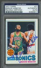 Marvin Webster signed Seattle Super Sonics 1977 Topps Basketball card Psa/Dna