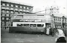 6D291 RP 1950s LIVERPOOL TRAMWAYS BUS CAR #?? LIVERPOOL PIER HEAD UK
