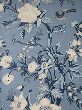 "THIBAUT CURTAIN FABRIC DESIGN ""Nemour"" 3.45 METRES BLUE ENCHANTMENT COLL"