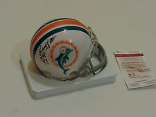 LARRY LITTLE autographed signed Dolphins mini helmet HOF 93 JSA Witness #WP85126