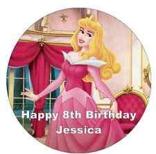 """Disney Princesa Aurora oblea de papel Topper Personalizado Para Pastel Grande 7.5"""""""