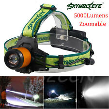 5000LM Zoomable CREE XM-L T6 LED Headlamp Headlight Flashlight Torch Lamp