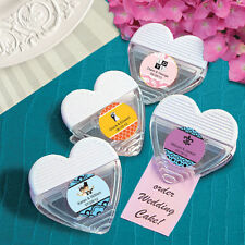 72 - Personalized Wedding Heart Magnetic Memo Clips  - Wedding Favors