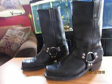 MOTORCYCLE STYLE BLACK RIDING BOOTS 9D! (Read Details Below)  SUPER CONDITION!