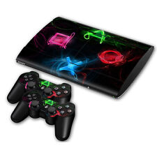Skin Sticker Cover for PS3 PlayStation 3 Slim 4000 and 2 controller Skins