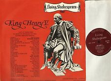 LIVING SHAKESPEARE king henry v richard burton/anna massey DEOB 5AM LP PS EX/EX-