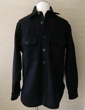 JCrew $158 Men's Wallace and Barnes & CPO Wool Jacket Black M Shirt 03067