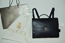 Gucci Children's GG Microguccissima Leather School Bag Backpack Briefcase Navy