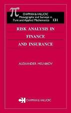 Risk Analysis in Finance and Insurance (MONOGRAPHS AND SURVEYS IN PURE AND APPLI