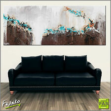 Modern Textured Abstract Painting Art Canvas Brown 160cm x 60cm Franko Australia