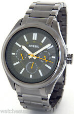 Fossil Men's BQ1508 Smoke GUNMETAL Multifunction Sport Watch