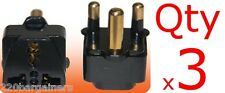 Plug Adapter 3 Pack - South Africa - For Type M BS546 Electrical outlet