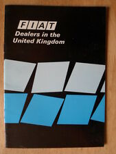 FIAT Dealers in the UK Mkt 1978 Publicity Brochure