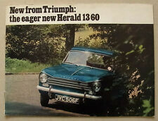 TRIUMPH HERALD 13/60 Car Sales Brochure 1967-68 #385/967/UK SALOON Estate CVT