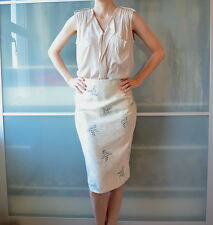 COAST Chinese style silk pencil skirt ~ UK 14