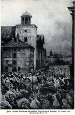 1914 Warschau: Flucht polnischer Bevölkerung u. russ.Deserteure* antique print