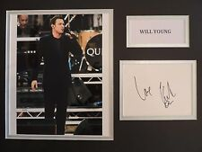 WILL YOUNG - SINGER /SONGWRITER - SUPERB SIGNED DISPLAY - COA - IN-PERSON